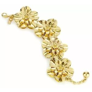NWT  Kate Spade Swim Team Gold Flowers Bracelet